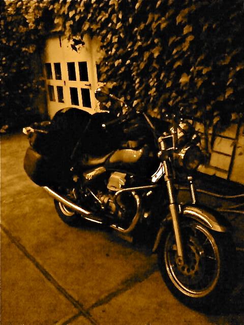 Motoguzzi california il ferro prima ella partenza lontano 2008