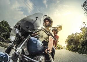 Claudio Giovenzana e Olga viaggiano in Latinoamerica con la motoguzzi