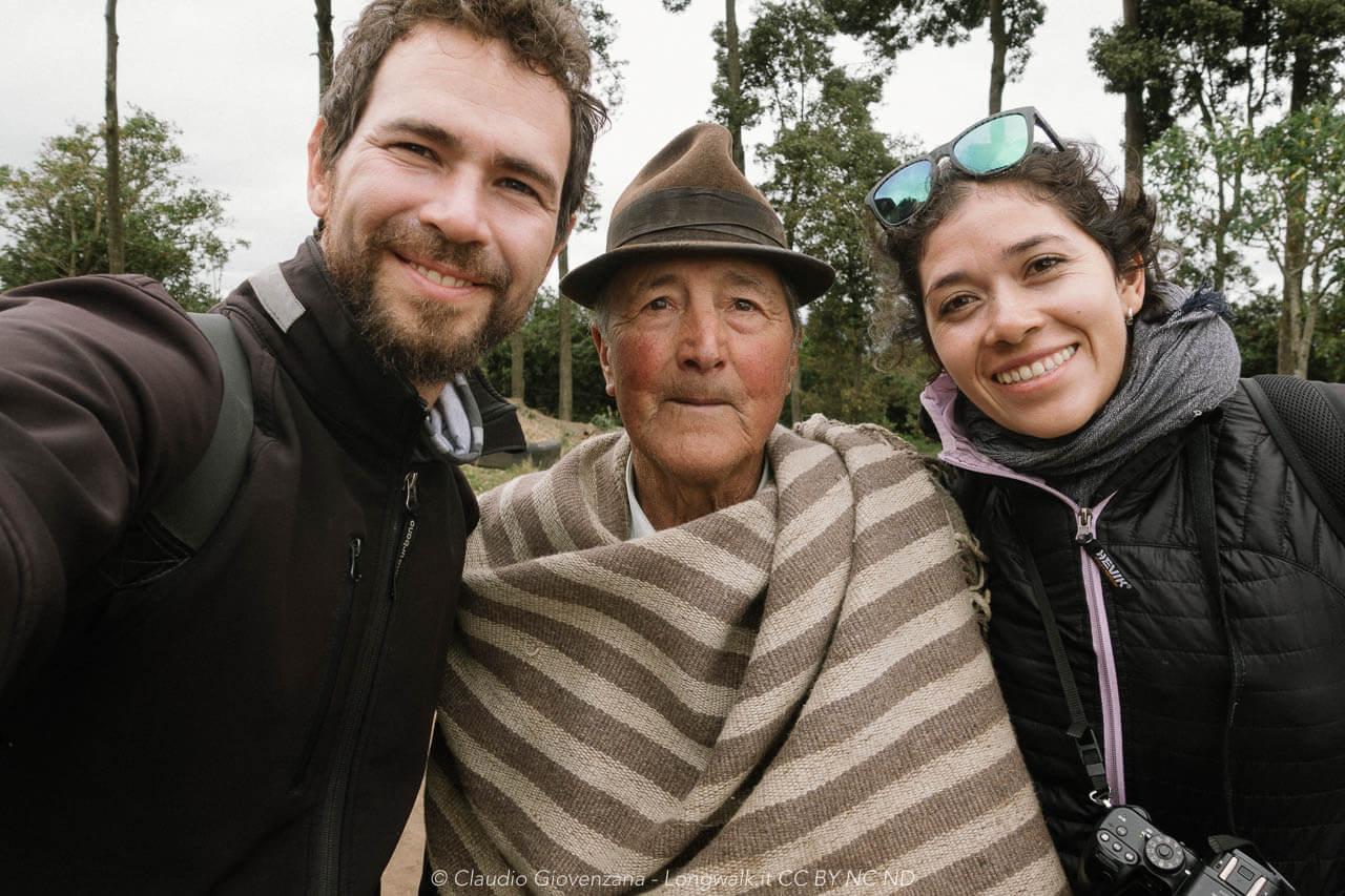 Olga, io e un campesino ecuatoriano