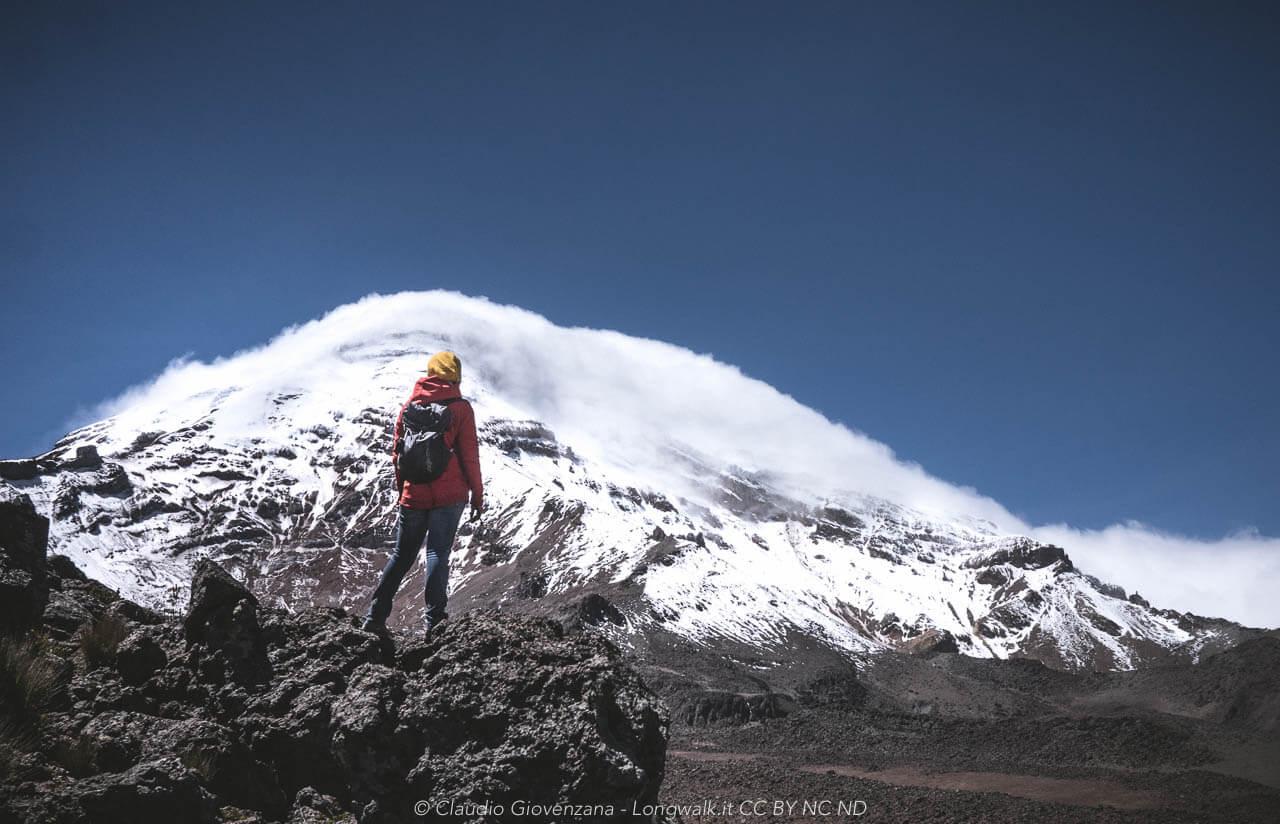 Olga sul volcano a Chimborrazo