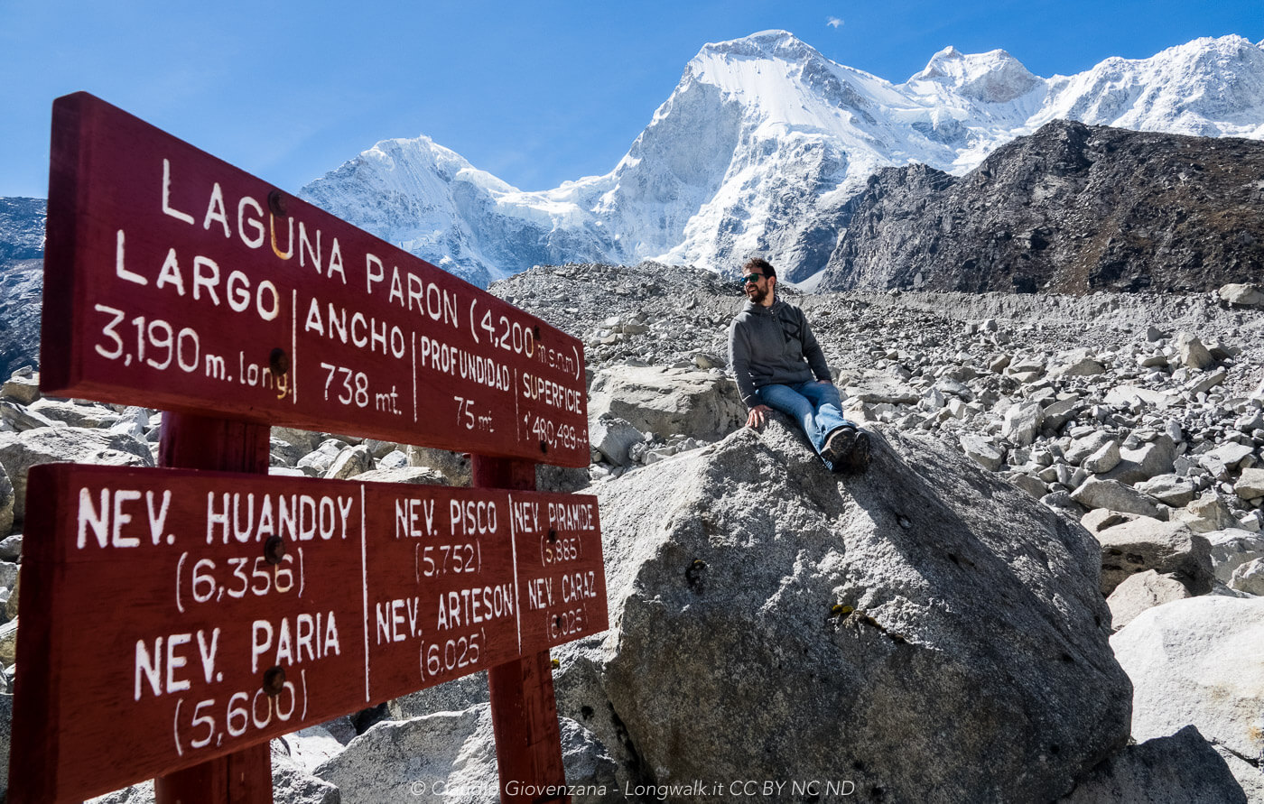 Il lago Paron in Perù