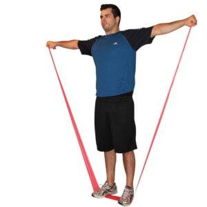 Allenamento Funzionale Alzate laterali con Elastici